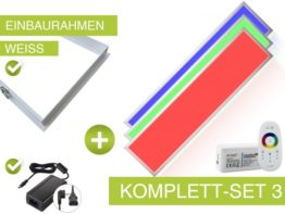 Komplettsystem LED Panel RGB 120x30cm